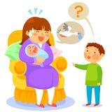 Waar de babys uit komen stock illustratie