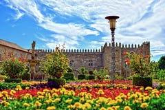 Waar de tuinen en de hemel samen komen Royalty-vrije Stock Afbeeldingen