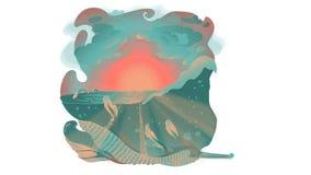 Waar is een Overzees Monster? stock illustratie