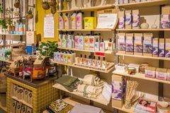 WAAR gift shop for special sustainable products. Stock Image