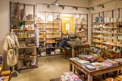WAAR gift shop for special sustainable products. Stock Photos