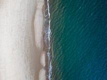 Waar het Strand het Overzees ontmoet Royalty-vrije Stock Afbeelding