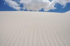Waar het Zand Hemel ontmoet Stock Foto's
