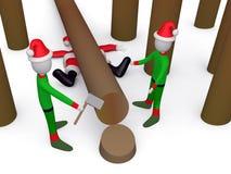 Waar is Kerstman? Stock Foto's