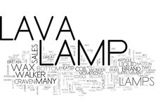 Waar Lava Lamps Come From Word betrok Royalty-vrije Stock Foto