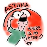 Waar mijn astma is stock illustratie