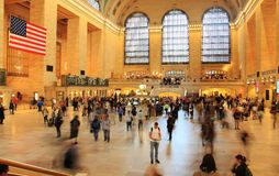 Waar te gaan? @ Grand Central -Post New York Royalty-vrije Stock Foto