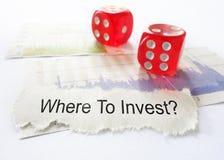 Waar te te investeren Stock Foto