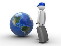 Waar wilt u vandaag reizen? (Amerika) stock illustratie