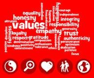 waarden Royalty-vrije Stock Fotografie