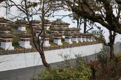 Waardige Dochula-Pas Choetens, Bhutan Stock Afbeeldingen