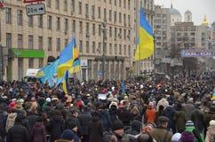 Waardigheid Maart in het Oekraïense kapitaal Stock Afbeeldingen