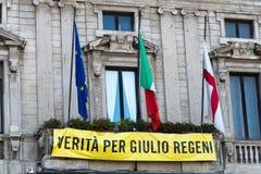 Waarheid voor Giulio Regeni stock foto's