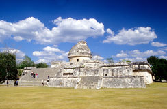 Waarnemingscentrum in Chichen Itza Stock Foto's