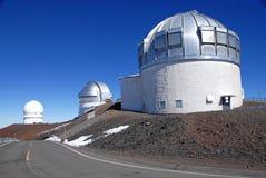 Waarnemingscentrum op Mauna Kea, het hoge punt van de staat van Hawaï Stock Afbeelding