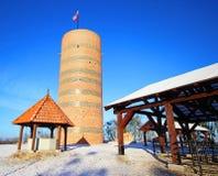 Waarnemingscentrumtoren Kilmek bij de kasteelruïnes in Grudziadz Stock Afbeelding