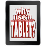 Waarom Gebruik een Mobiel de Blocnoteapparaat van de Tabletcomputer Royalty-vrije Stock Foto's