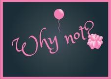 Waarom niet? Stock Fotografie