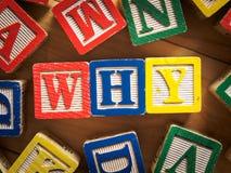 Waarom vraag Royalty-vrije Stock Afbeeldingen
