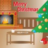 Waarschuw de opstelling van Kerstmis, volledige vector. Vector Illustratie