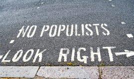 Waarschuwing tegen populisme, die more and more rond de wereld uitspreidt royalty-vrije stock fotografie