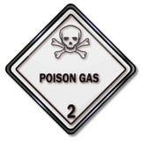 Waarschuwing van giftig substanties en gas royalty-vrije illustratie