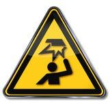 Waarschuwing van hindernissen in het hoofdgebied stock illustratie