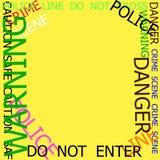 Waarschuwing, Voorzichtigheid, Misdaad, Politietekens vector illustratie