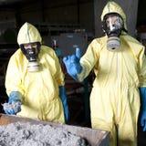 Waarschuwing wegens radioactief gevaar stock foto