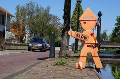 Waarschuwingsbeeldje in Nederland Stock Afbeelding