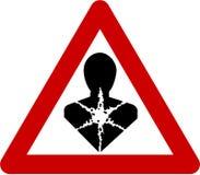 Waarschuwingsbord met carcinogene substanties vector illustratie