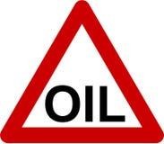 Waarschuwingsbord met olietekst vector illustratie