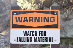 Waarschuwingshorloge voor Dalend Materieel Oranje Zwart-wit Teken Royalty-vrije Stock Afbeelding