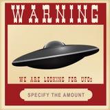 Waarschuwingsonderzoek naar UFO Royalty-vrije Stock Foto's