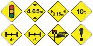 Waarschuwingsverkeersteken in Ierland vector illustratie