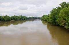 河wabash 免版税库存照片