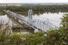 Wabash Bridge at Hannibal, Missouri Stock Image