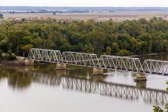 Wabash bro på Hannibal, Missouri Arkivbilder