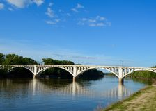 Wabash River Bridge Royalty Free Stock Images