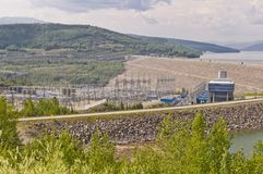 WAC Bennett hydroelectric dam Stock Images