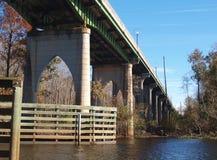 Waccamaw河纪念品桥梁 图库摄影