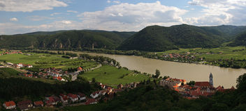 Wachau. Famous Wachau valley (Durnstein, Austria) listed in UNESCO World heritage sites Royalty Free Stock Photography
