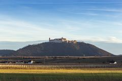 Wachau Abbey of Goettweig with surrounding vineyard, Austria. Wachau Abbey of Goettweig with surrounding vineyard, Lower Austria stock image