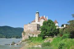 wachau för dal för Österrike slottdanube schoenbuehel Royaltyfria Bilder