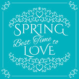 Wachen Sie auf Frühling kommt lizenzfreie stockbilder