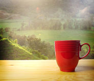 Wachen Sie auf und riechen Sie den Kaffee Stockbilder