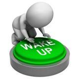 Wachen Sie das Knopf-Show-Warnung und Steigen auf lizenzfreie abbildung