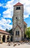 Wachenburg在历史镇韦因海姆,德国 免版税库存照片