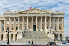 WACHINGTON, D C - 10 JANUARI, 2014: Het inbouwen van Washington DC Paleis Stock Foto