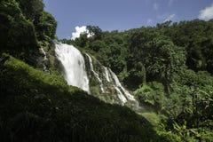 Wachiratarn Waterfall. In Doi Intanon national park Chiangmai Thailand royalty free stock photo